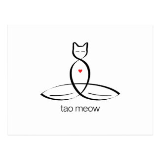 Tao Meow - Regular style text. Postcard