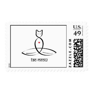 Tao Meow - Sanskrit style text. Postage Stamp