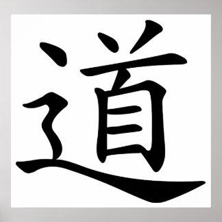 Tao o Dao es la palabra china para la ruta de la t Posters