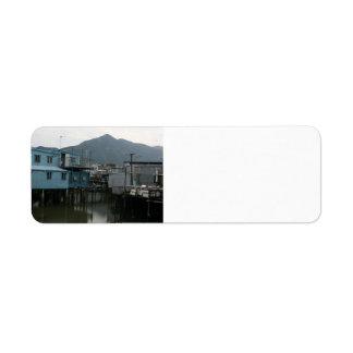 Tao O, isla de Lantau, Hong Kong Etiqueta De Remite