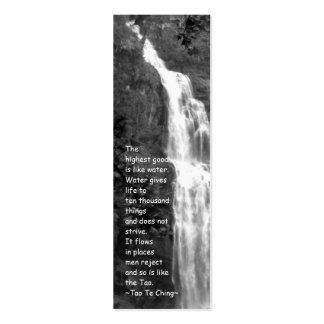 Tao Te Ching Bookmark/Photography Double-Sided Mini Business Cards (Pack Of 20)