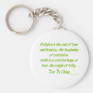 Tao Te Ching en la religión Llavero Personalizado