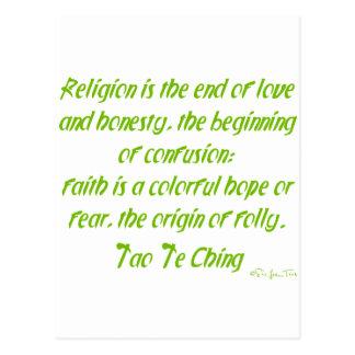 Tao Te Ching en la religión Postales