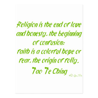 Tao Te Ching en la religión Tarjetas Postales
