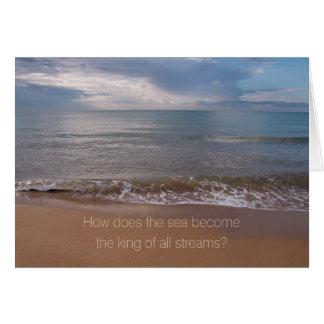 Tao Te Ching King of all streams CC0842 Card