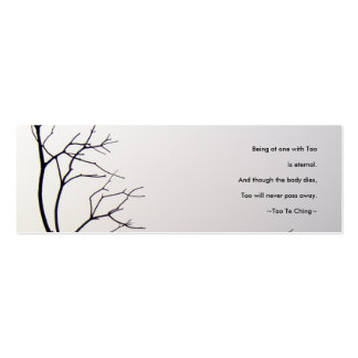 Tao Te Ching No.1/Bookmark Double-Sided Mini Business Cards (Pack Of 20)