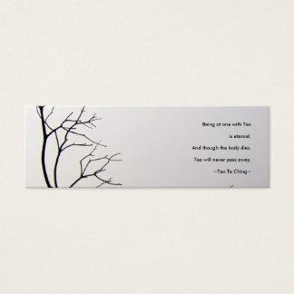Tao Te Ching No.1/Bookmark Mini Business Card