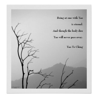 Tao Te Ching No.1 / Poster Poster