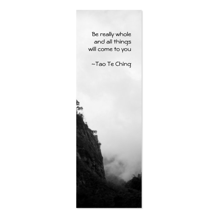 Tao Te Ching  No.2 Bookmark Mini Business Card