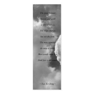 Tao Te Ching No.4 /Bookmark Tarjetas De Visita