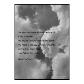 Tao Te Ching No.4/Poster Poster