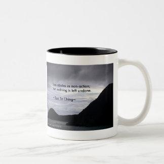 Tao Te Ching No.7/ Two-Tone Coffee Mug