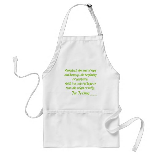 Tao Te Ching On Religion Aprons