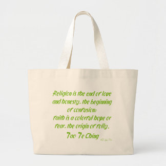 Tao Te Ching On Religion Canvas Bag