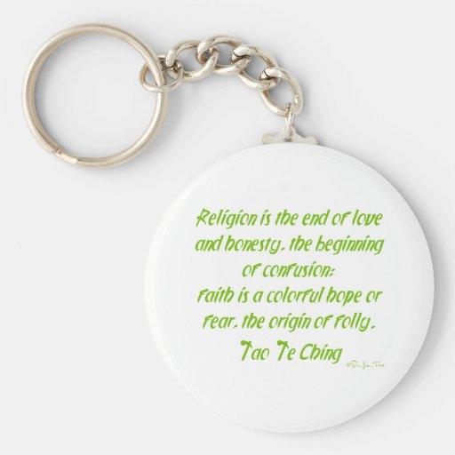 Tao Te Ching On Religion Key Chain