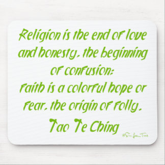 Tao Te Ching On Religion Mouse Pad