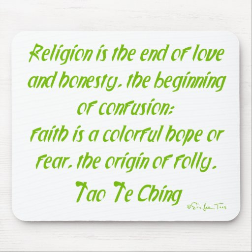 Tao Te Ching On Religion Mouse Pads
