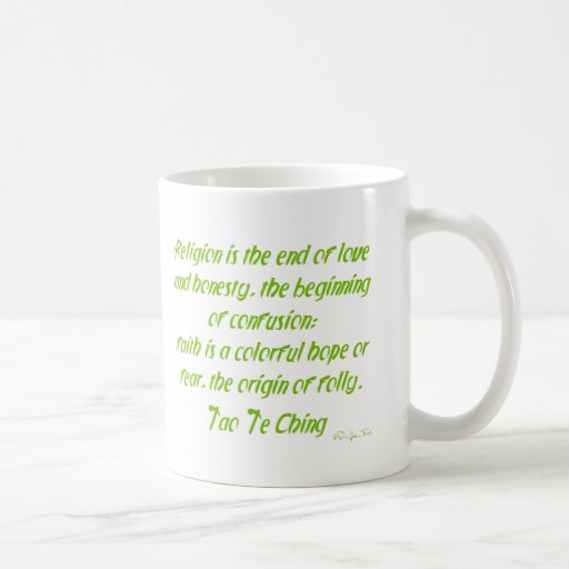 Tao Te Ching On Religion Mugs