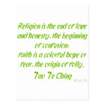 Tao Te Ching On Religion Post Cards