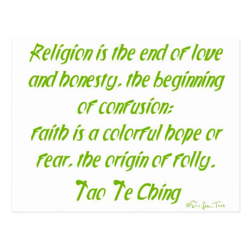 Tao Te Ching On Religion Postcard