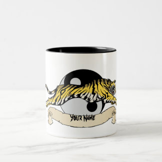 Tao Tiger, Your Name Two-Tone Coffee Mug