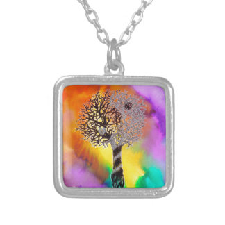 Tao Tree Silver Plated Necklace