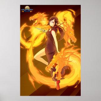 TAOFEWA - Gabija Fiery Dragon Spirits Poster