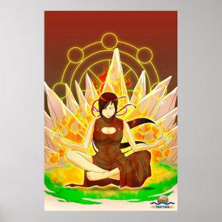 TAOFEWA - Gabija Meditating Poster