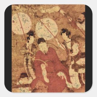 Taois Tischer Heiliger Mit Gefage_The Orient Square Sticker