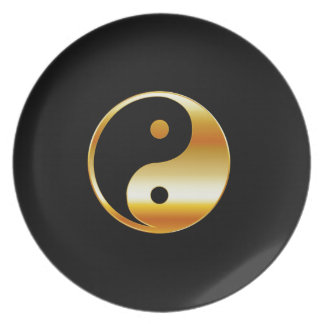 Taoism- Daoism- Ying and Yang symbol Plate