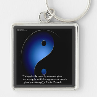 Taoism Love/Courage Proverb Keychain