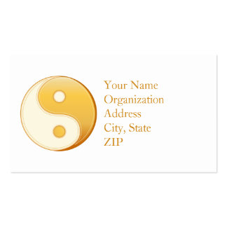 Taoism Symbol Double-Sided Standard Business Cards (Pack Of 100)