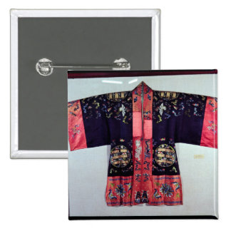 Taoist Robe With Tai Chi Yin and Yang 2 Inch Square Button