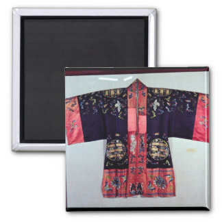 Taoist Robe With Tai Chi Yin and Yang 2 Inch Square Magnet