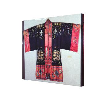 Taoist Robe With Tai Chi Yin and Yang Canvas Print