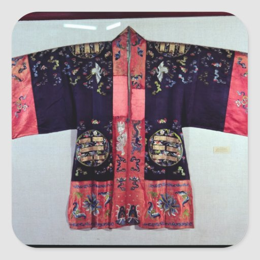 Taoist Robe With Tai Chi Yin and Yang Square Sticker