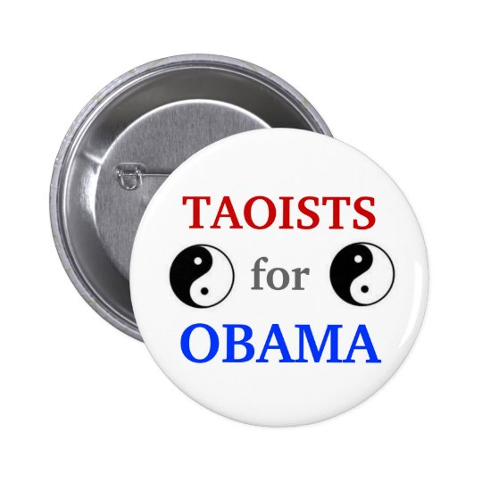 Taoists for Obama 2012 button
