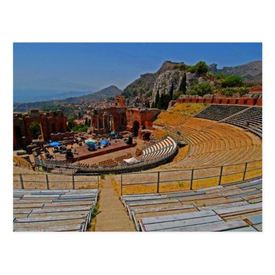 Taormina amphitheater 2 postcard