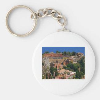 Taormina amphitheater 3 keychain