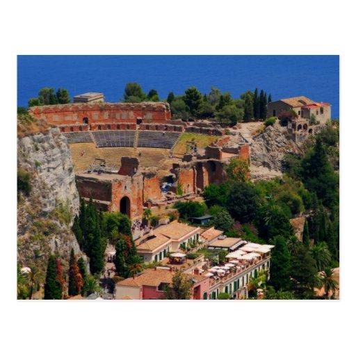 Taormina amphitheater 3 post card
