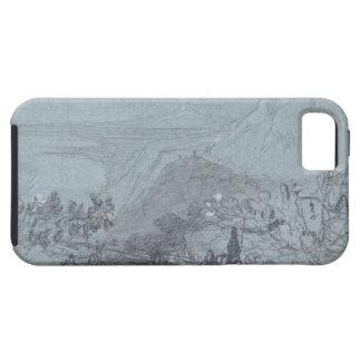 """Taormina, de """"vistas de Sicilia"""" (tiza y aguazo iPhone 5 Fundas"""