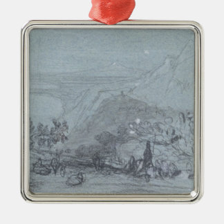 Taormina, from 'Views of Sicily' (chalk & gouache Metal Ornament