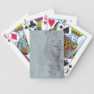 Taormina, from 'Views of Sicily' (chalk & gouache Card Decks