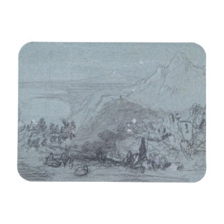 Taormina, from 'Views of Sicily' (chalk & gouache Rectangle Magnets