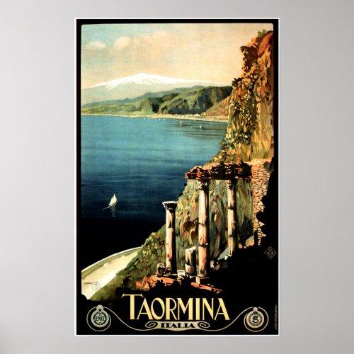 TAORMINA ITALIA Sicily Vintage Italy Travel
