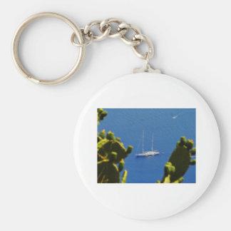 Taormina sail boat keychain