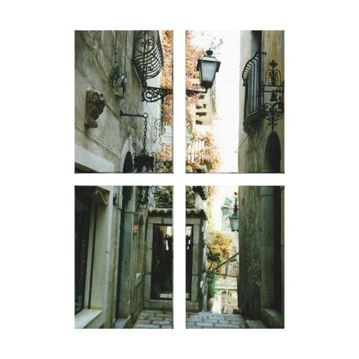 Taormina Stretched Canvas Print