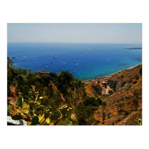 Taormina view 1 postcard
