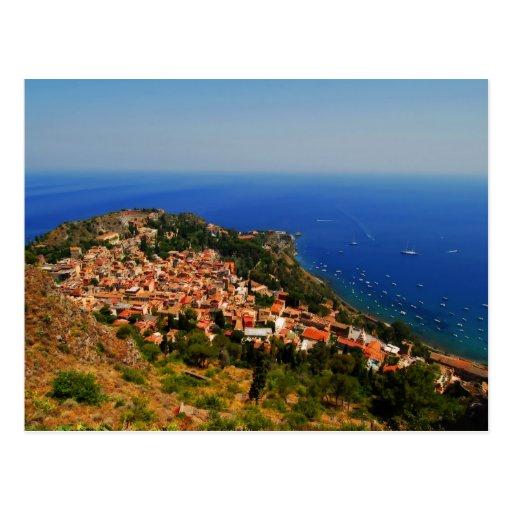 Taormina view 2 postcards