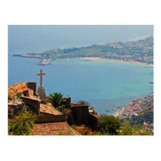 Taormina view 3 postcard